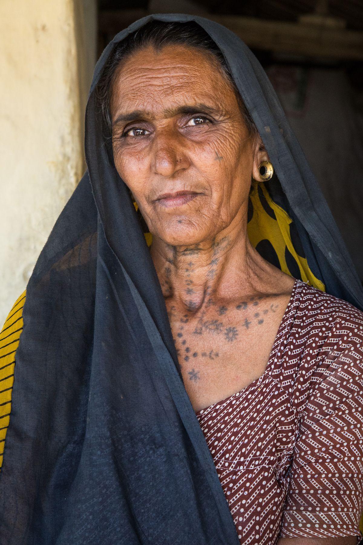 Portrait of Lilu, a Gujarati lady